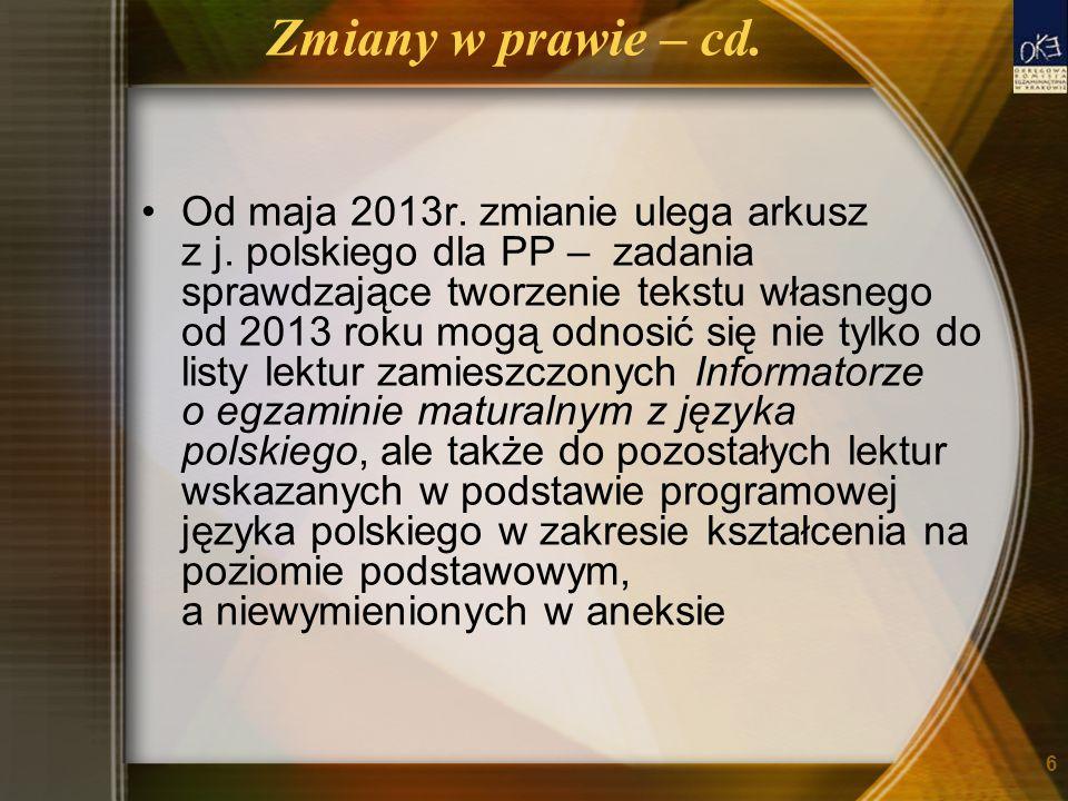 Zmiany w prawie – cd.
