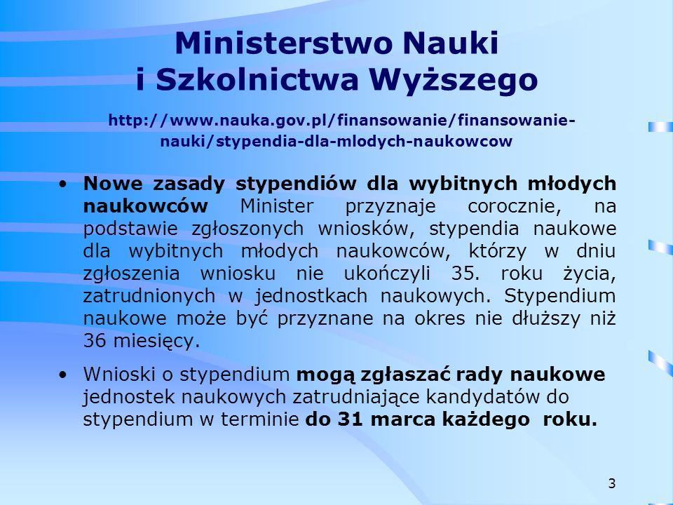 Ministerstwo Nauki i Szkolnictwa Wyższego http://www. nauka. gov