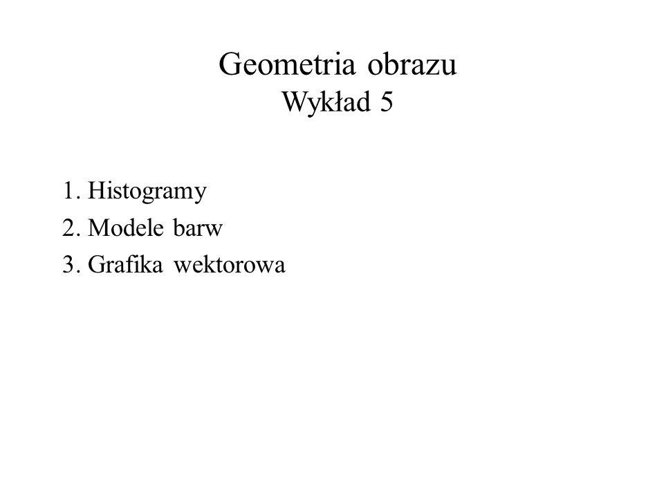 Geometria obrazu Wykład 5