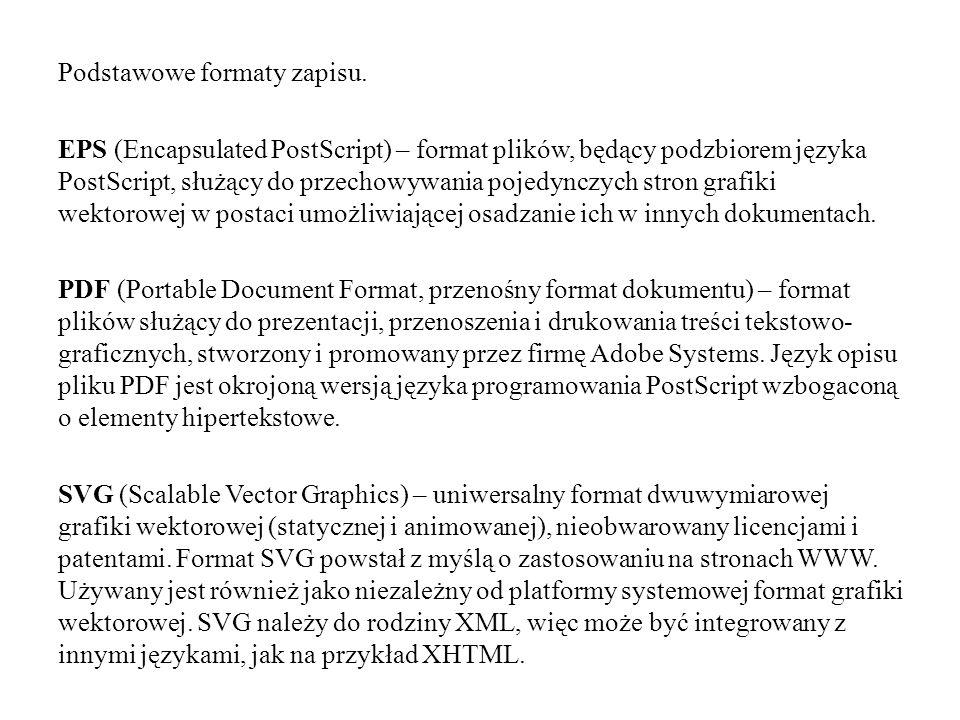 Podstawowe formaty zapisu