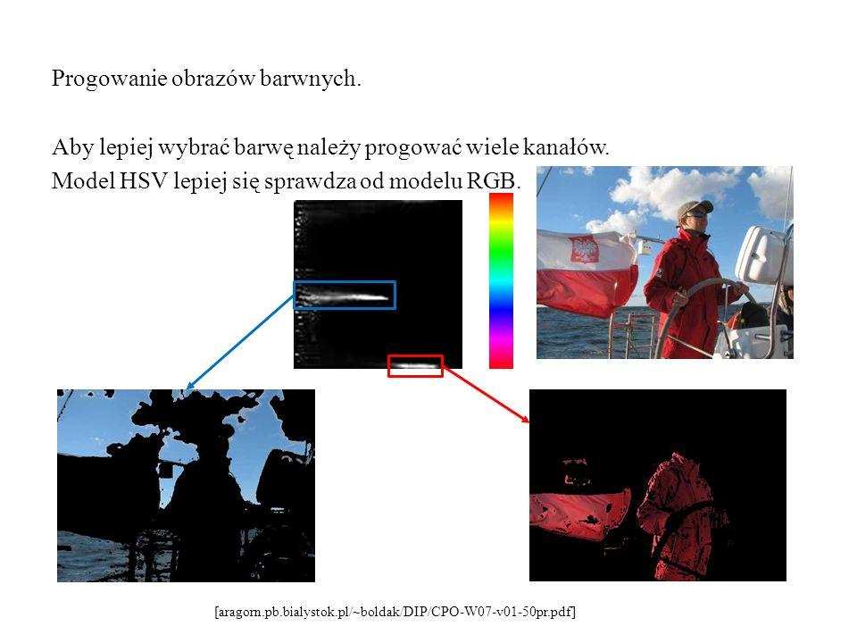 Progowanie obrazów barwnych