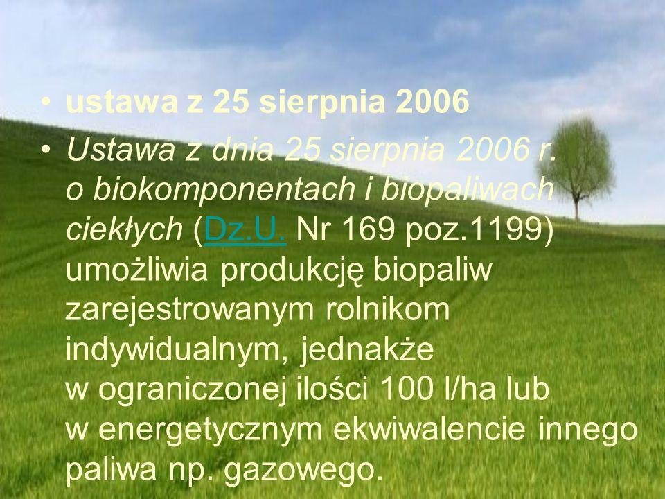 ustawa z 25 sierpnia 2006