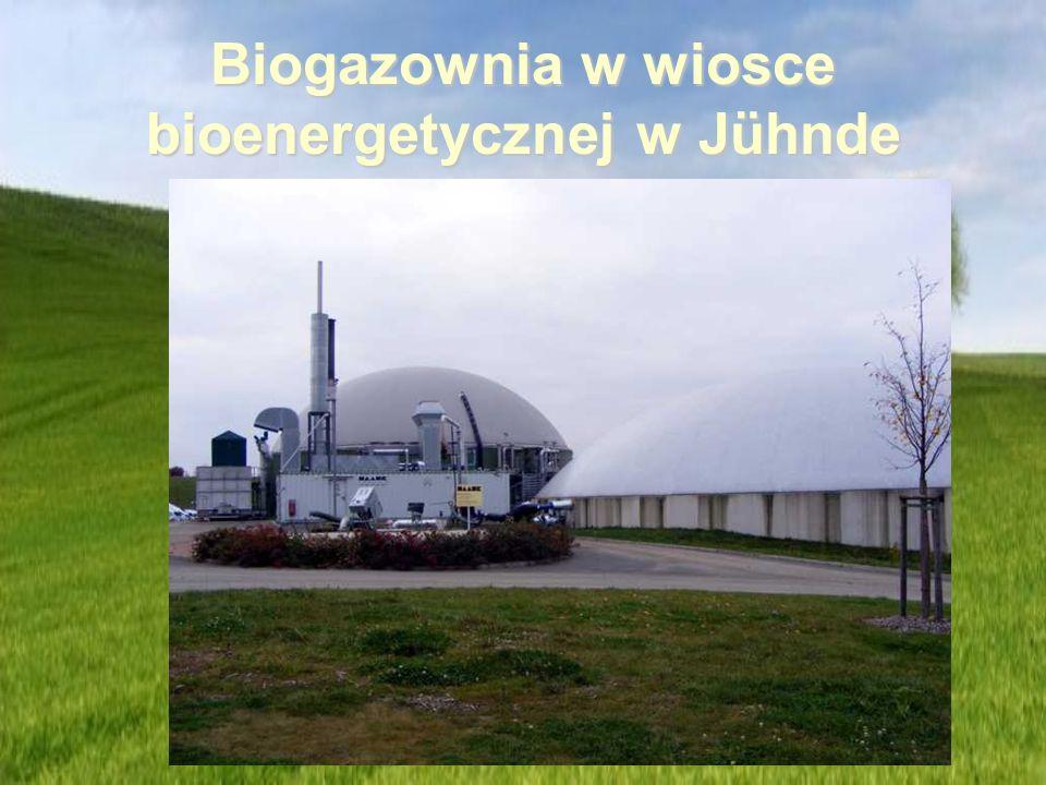 Biogazownia w wiosce bioenergetycznej w Jühnde