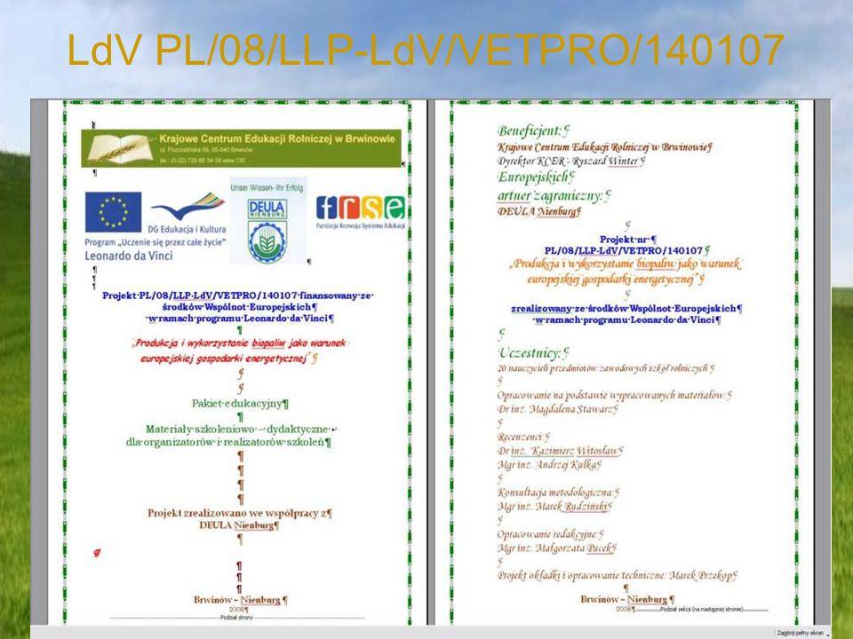 LdV PL/08/LLP-LdV/VETPRO/140107
