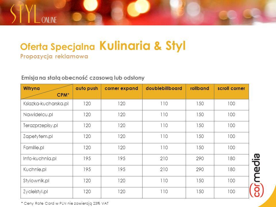 Oferta Specjalna Kulinaria & Styl Propozycja reklamowa