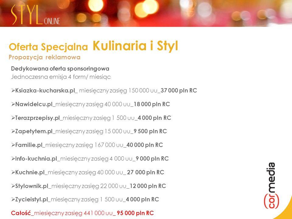 Oferta Specjalna Kulinaria i Styl Propozycja reklamowa
