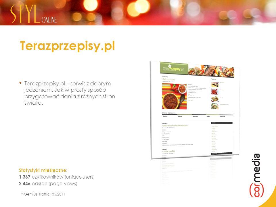 Terazprzepisy.pl Terazprzepisy.pl – serwis z dobrym jedzeniem. Jak w prosty sposób przygotować dania z różnych stron świata.