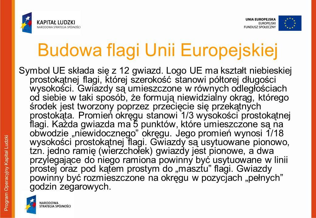 Budowa flagi Unii Europejskiej
