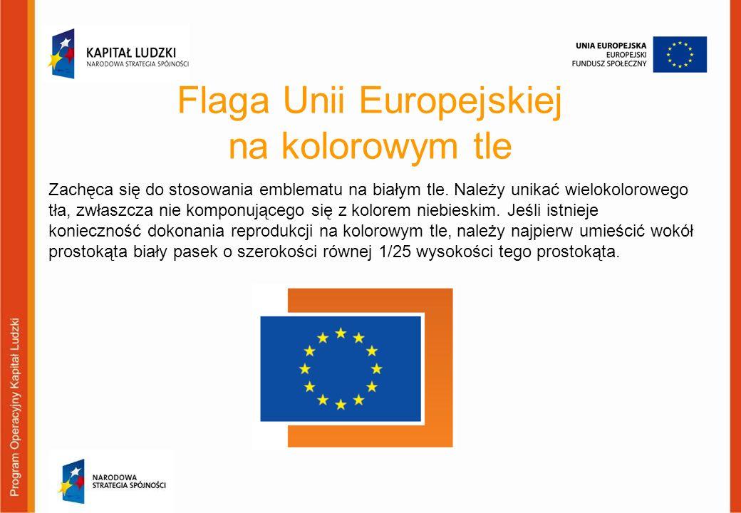 Flaga Unii Europejskiej na kolorowym tle