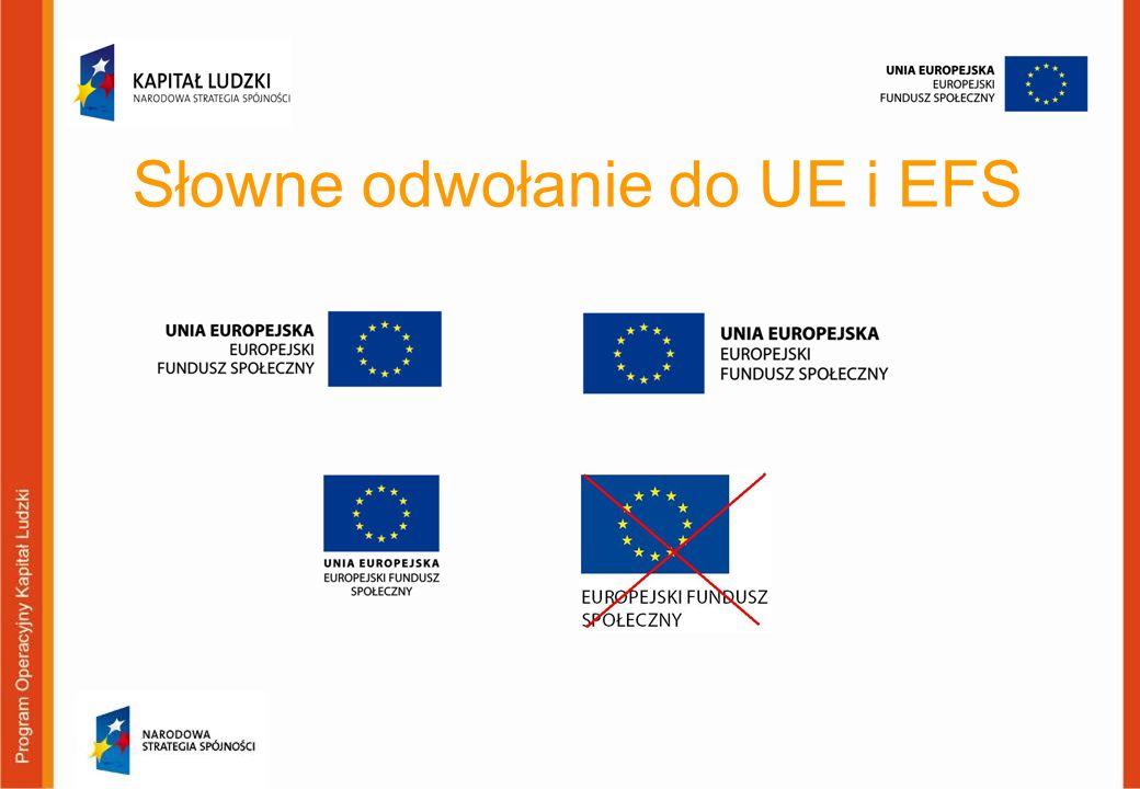 Słowne odwołanie do UE i EFS