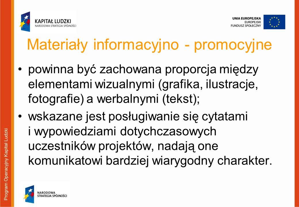 Materiały informacyjno - promocyjne
