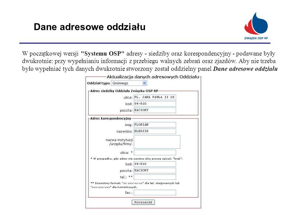 Dane adresowe oddziału