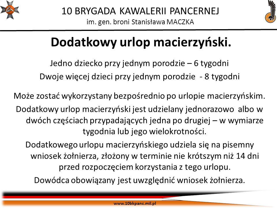 Dodatkowy urlop macierzyński.