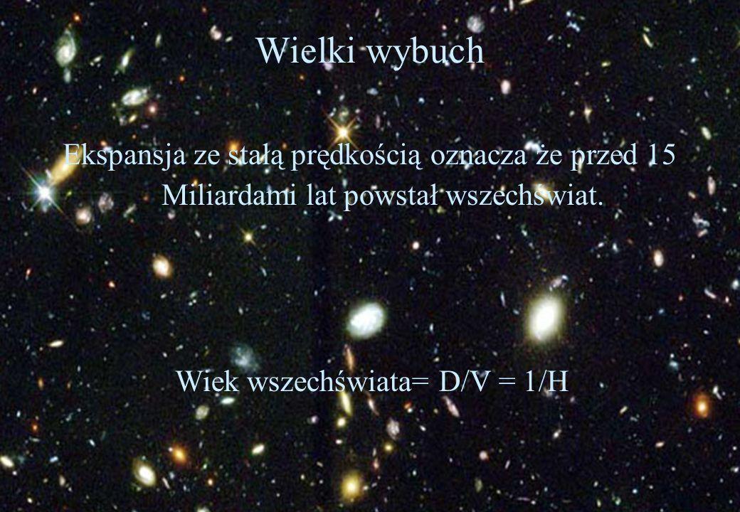 Wiek wszechświata= D/V = 1/H