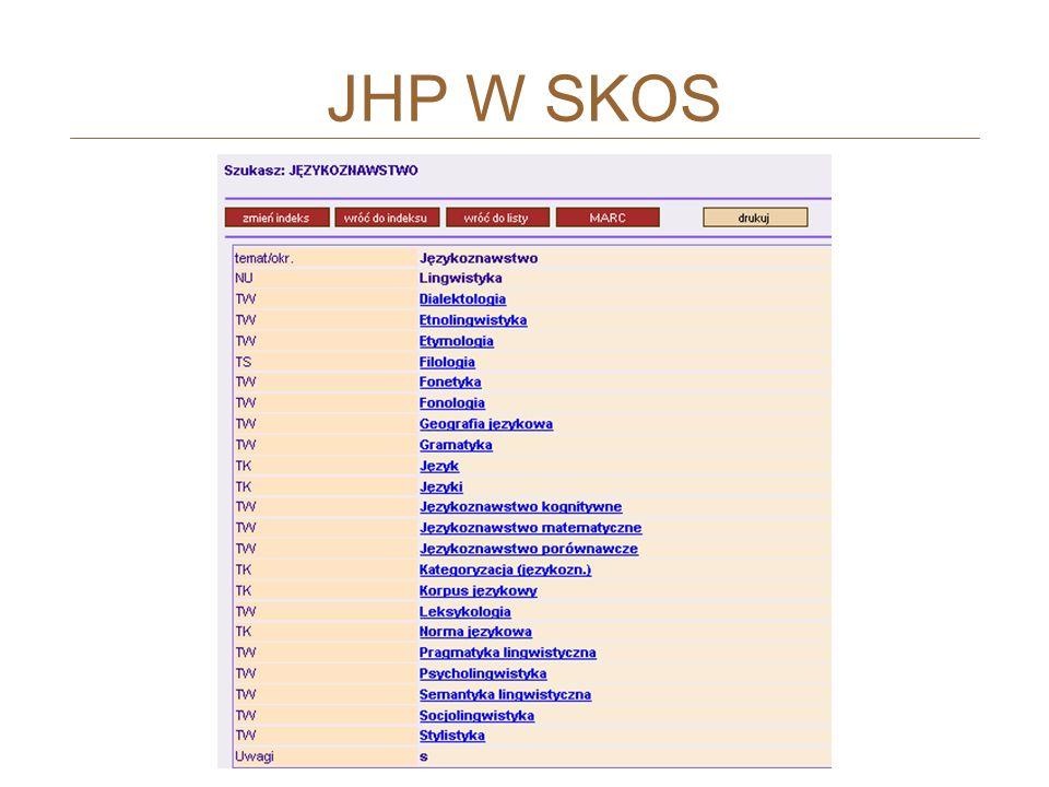 JHP W SKOS