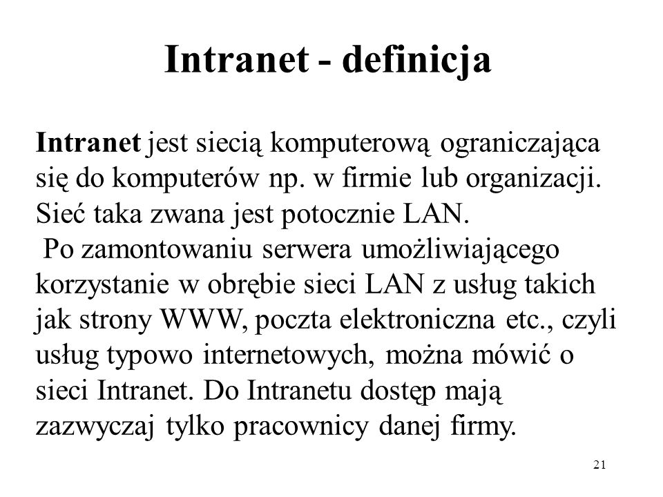 Intranet - definicja