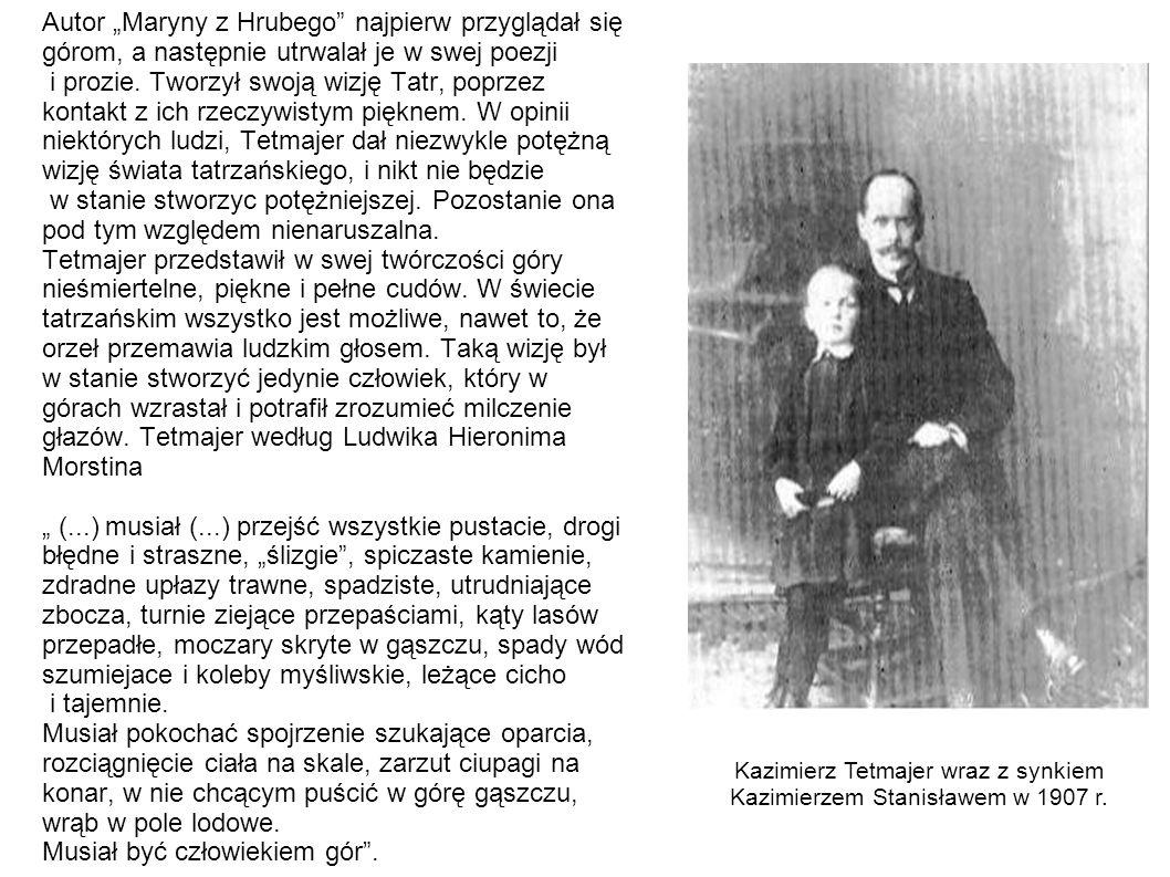 Kazimierz Tetmajer wraz z synkiem Kazimierzem Stanisławem w 1907 r.