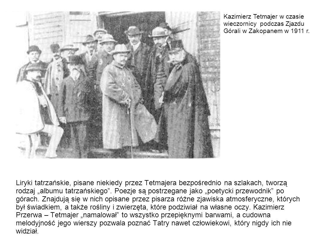 Kazimierz Tetmajer w czasie wieczornicy podczas Zjazdu Górali w Zakopanem w 1911 r.
