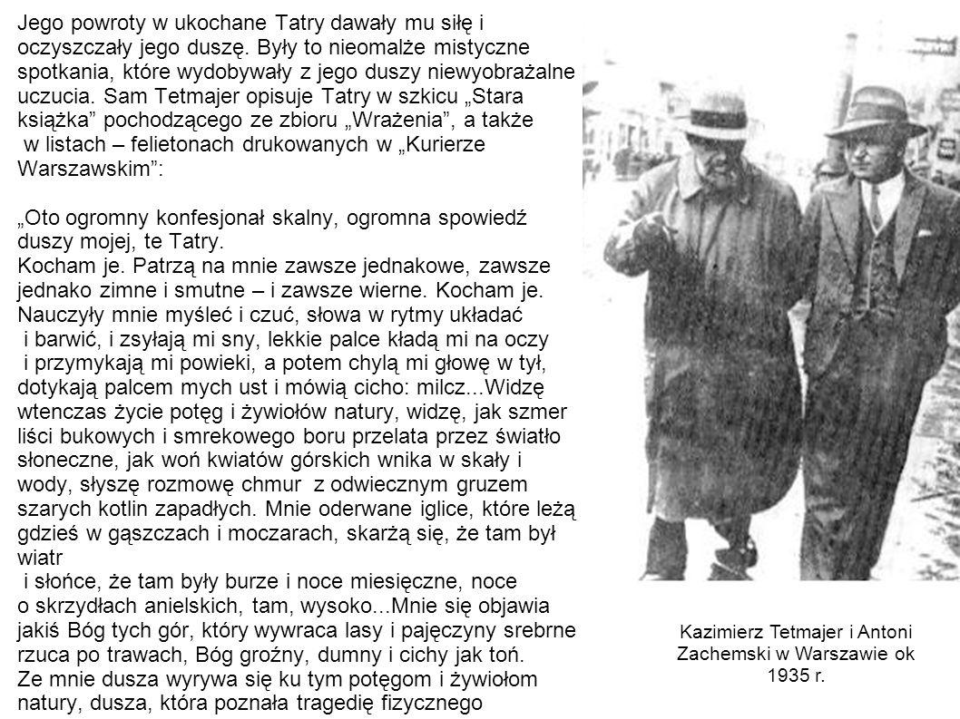 Kazimierz Tetmajer i Antoni Zachemski w Warszawie ok 1935 r.