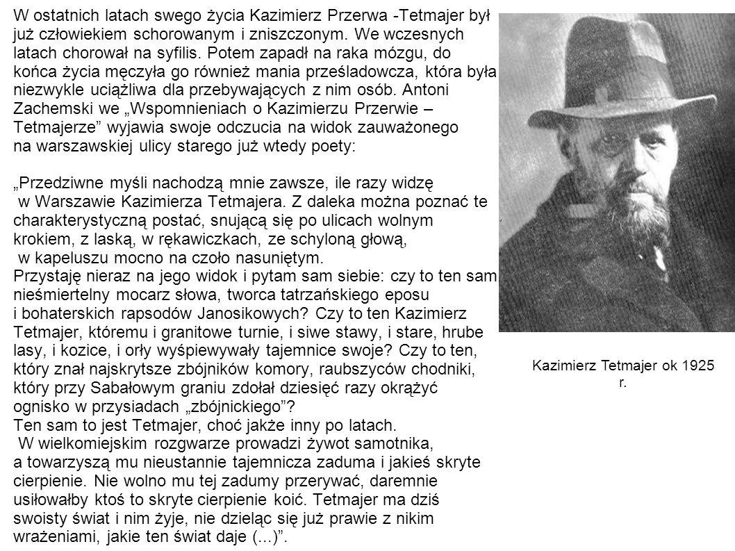Kazimierz Tetmajer ok 1925 r.