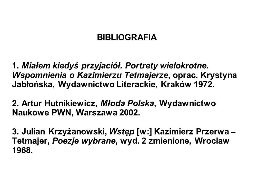 BIBLIOGRAFIA 1. Miałem kiedyś przyjaciół. Portrety wielokrotne