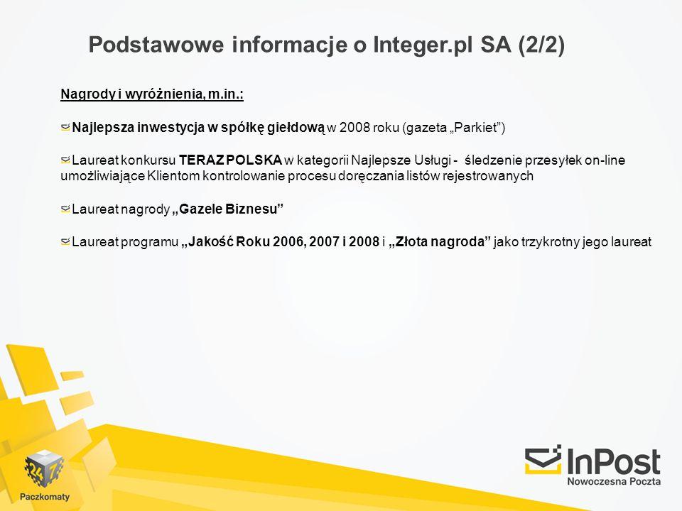 Podstawowe informacje o Integer.pl SA (2/2)
