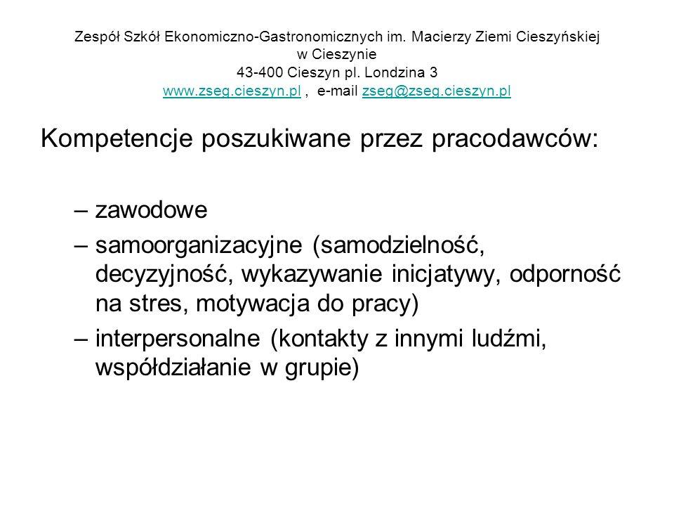 Kompetencje poszukiwane przez pracodawców: