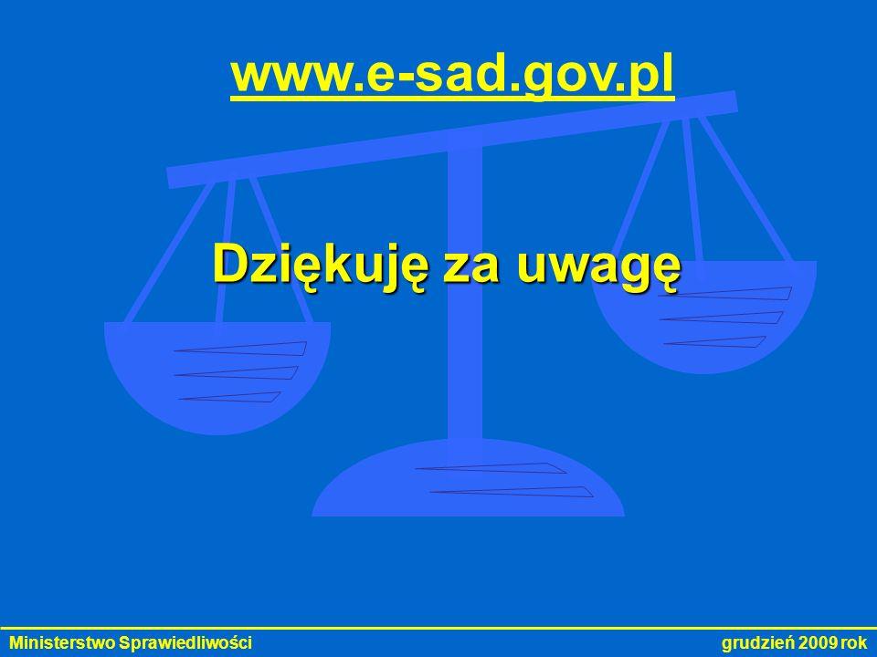 www.e-sad.gov.pl Dziękuję za uwagę