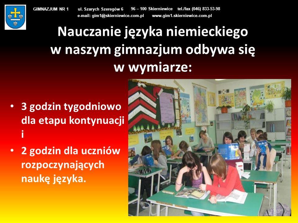 GIMNAZJUM NR 1 ul. Szarych Szeregów 6