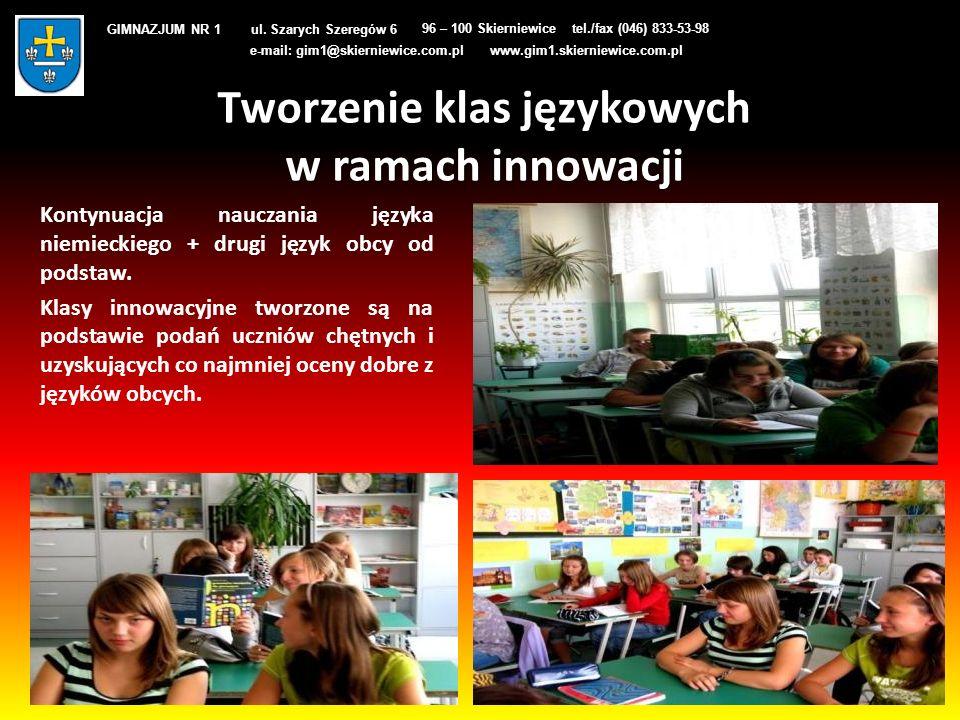 Tworzenie klas językowych w ramach innowacji