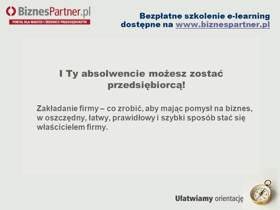 Bezpłatne szkolenie e-learning dostępne na www.biznespartner.pl