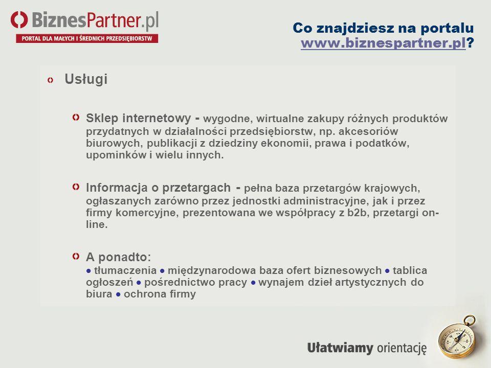 Co znajdziesz na portalu www.biznespartner.pl