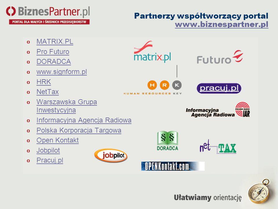 Partnerzy współtworzący portal www.biznespartner.pl