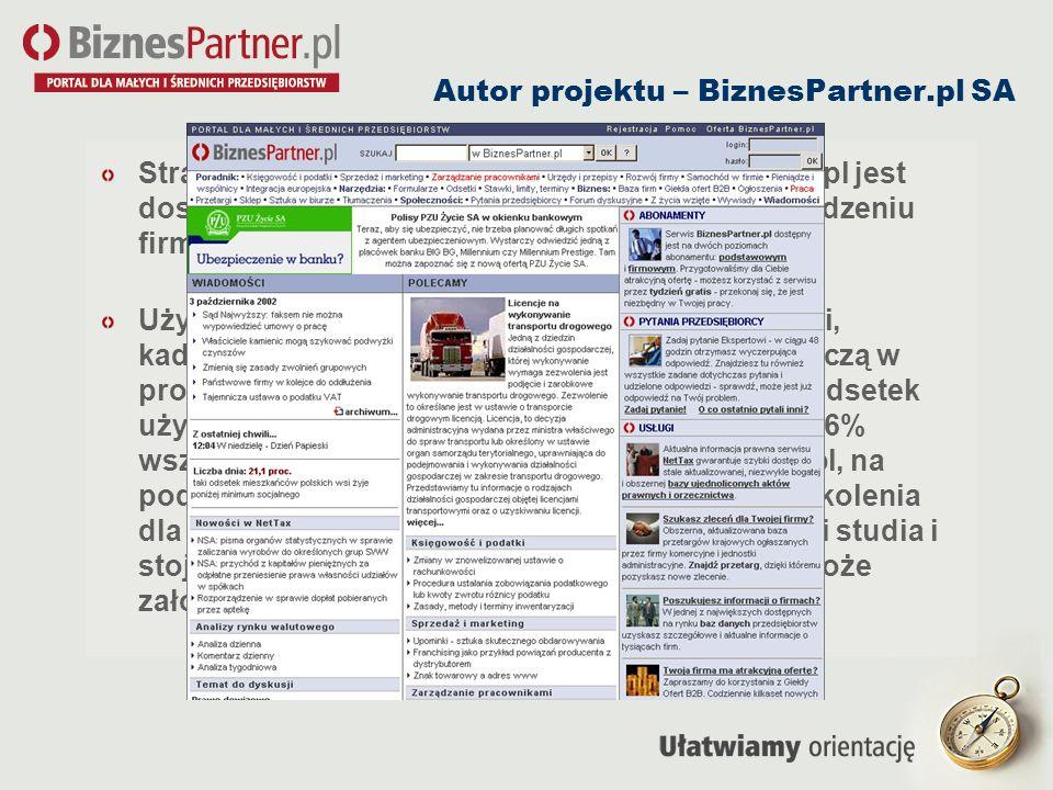 Autor projektu – BiznesPartner.pl SA