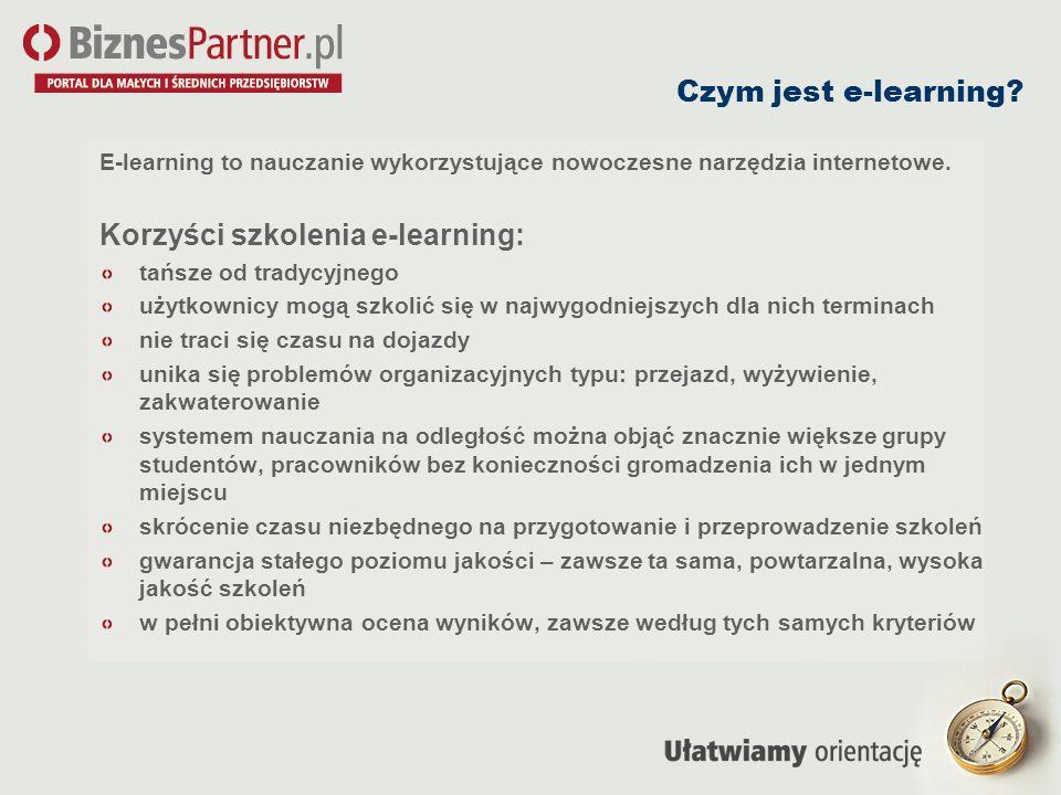 Korzyści szkolenia e-learning: