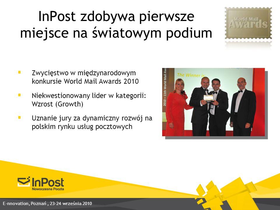 InPost zdobywa pierwsze miejsce na światowym podium