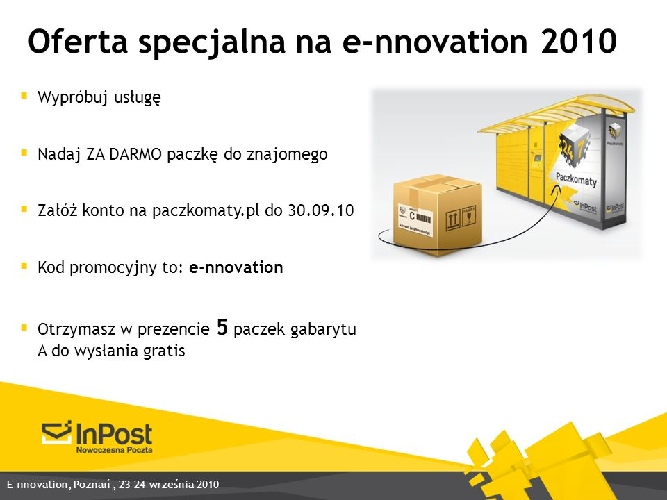 Oferta specjalna na e-nnovation 2010