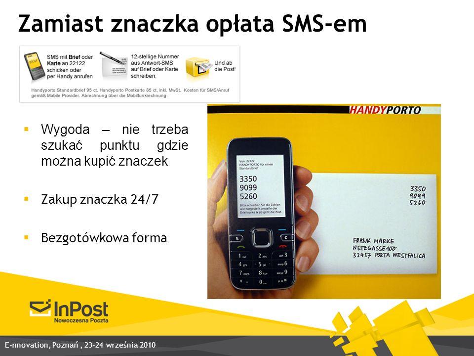 Zamiast znaczka opłata SMS-em