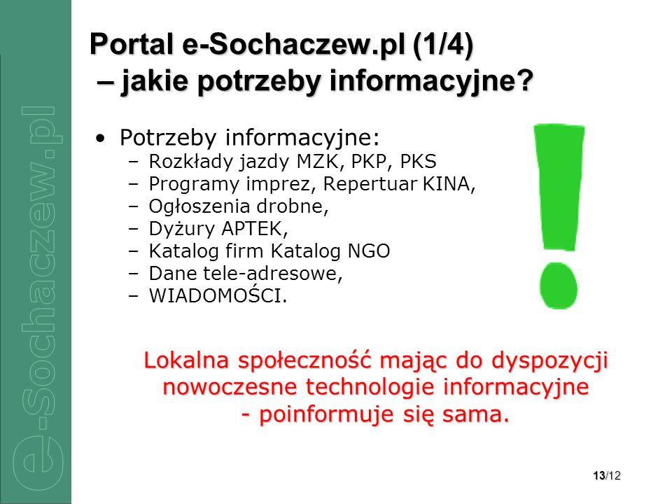 Portal e-Sochaczew.pl (1/4) – jakie potrzeby informacyjne