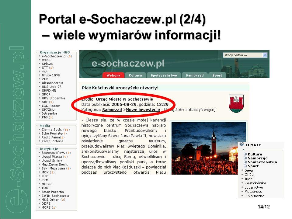 Portal e-Sochaczew.pl (2/4) – wiele wymiarów informacji!