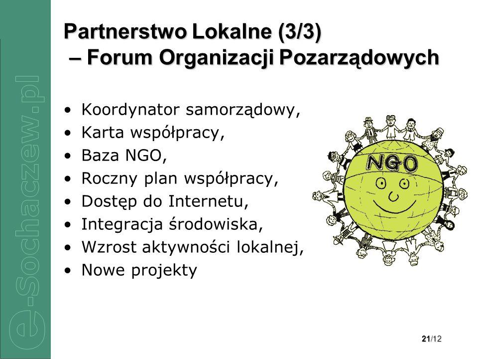 Partnerstwo Lokalne (3/3) – Forum Organizacji Pozarządowych