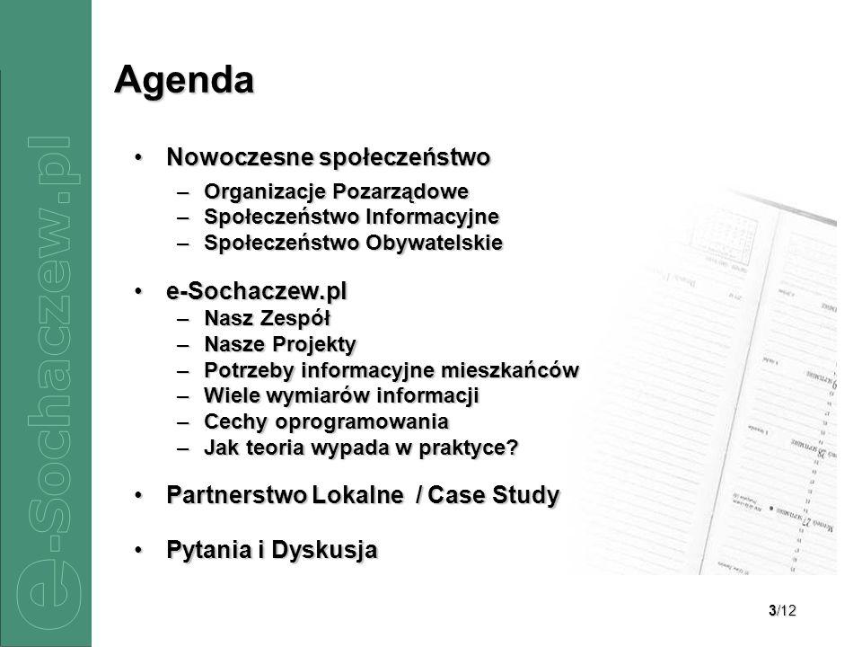 Agenda Nowoczesne społeczeństwo e-Sochaczew.pl