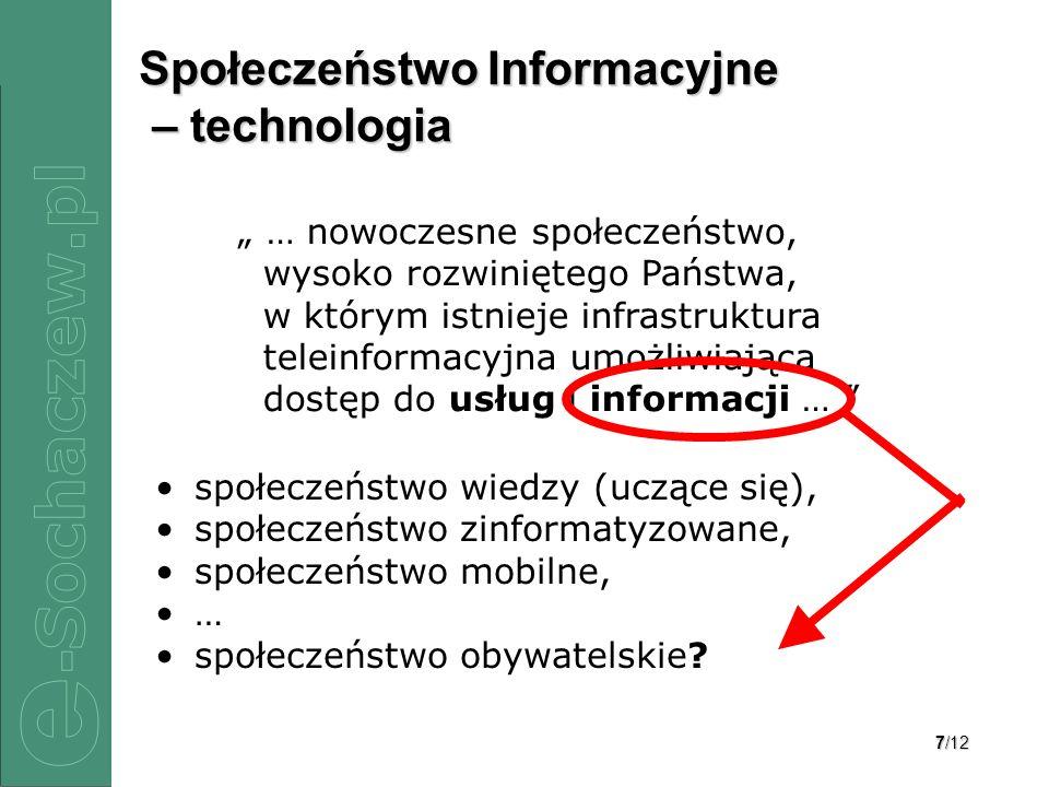 Społeczeństwo Informacyjne – technologia