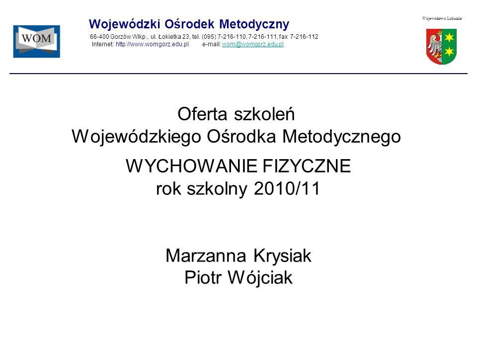 Oferta szkoleń Wojewódzkiego Ośrodka Metodycznego