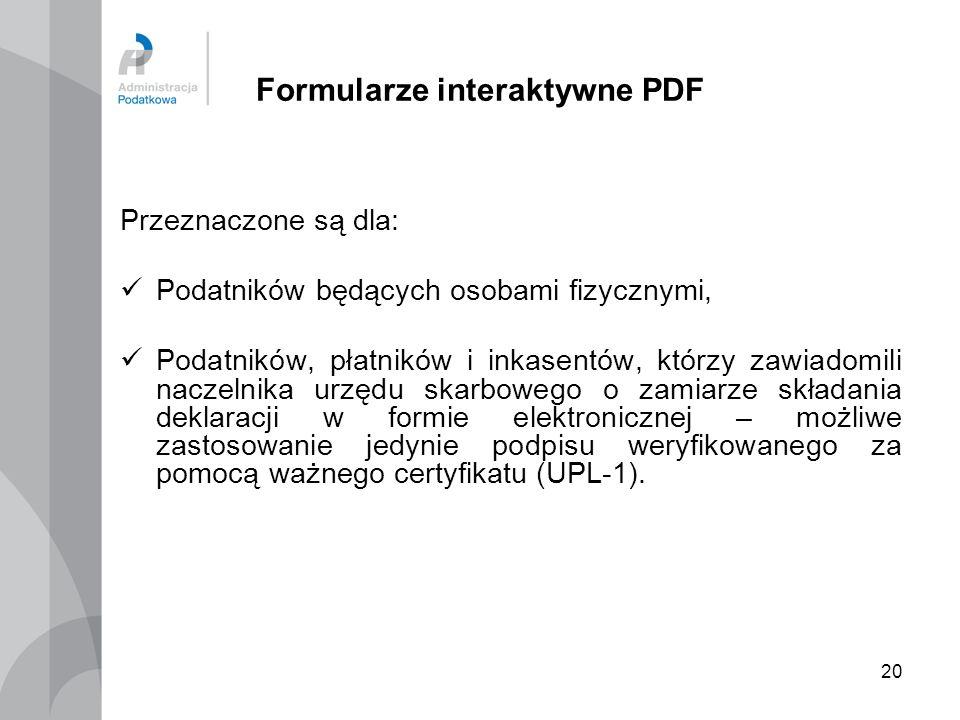 Formularze interaktywne PDF