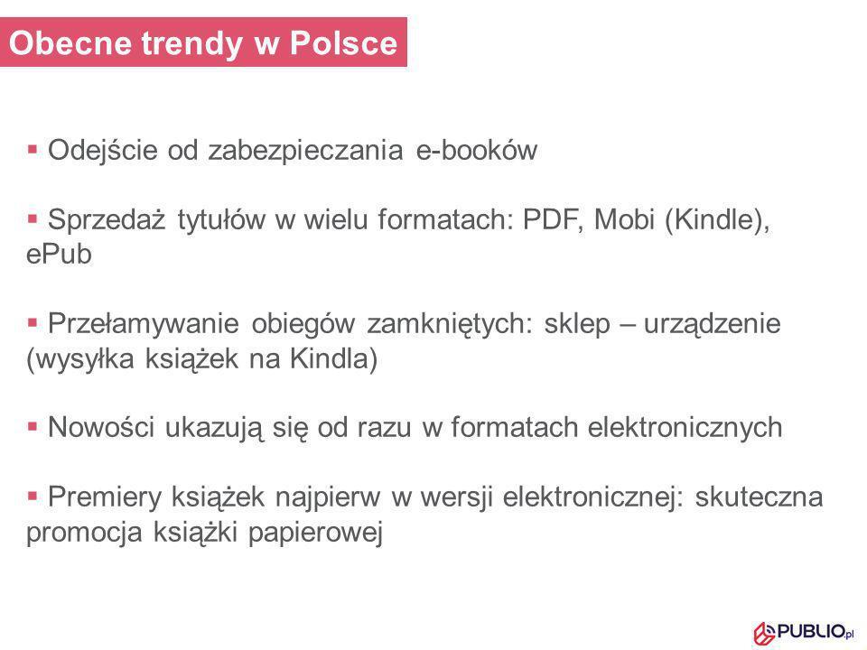 Obecne trendy w Polsce Odejście od zabezpieczania e-booków