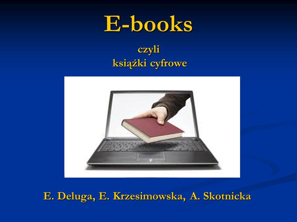 E-books czyli książki cyfrowe