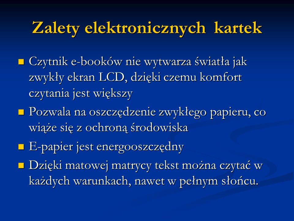 Zalety elektronicznych kartek