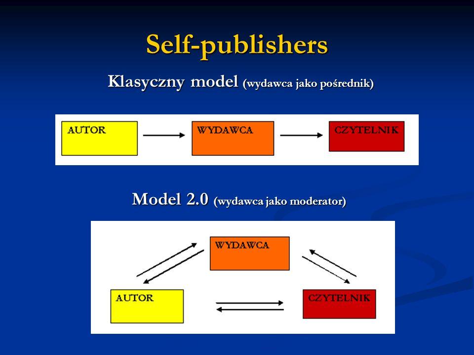 Self-publishers Klasyczny model (wydawca jako pośrednik)