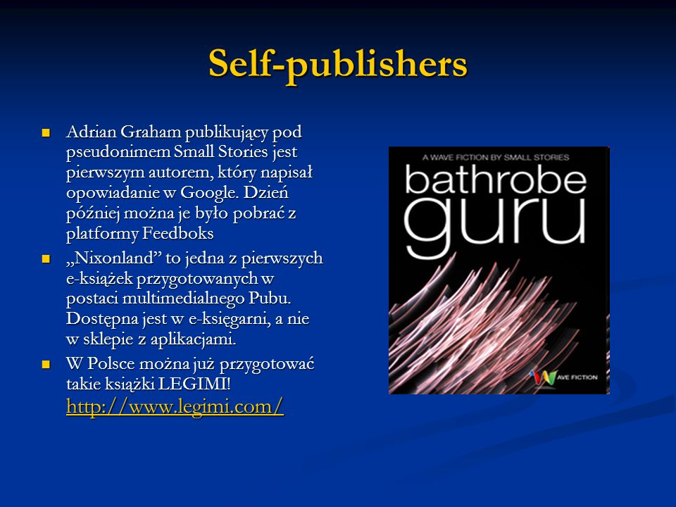 Self-publishers